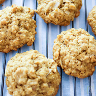 Orange Oatmeal Cookies with Nuts and Coconut