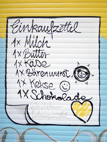 Einkaufsliste, Street Art