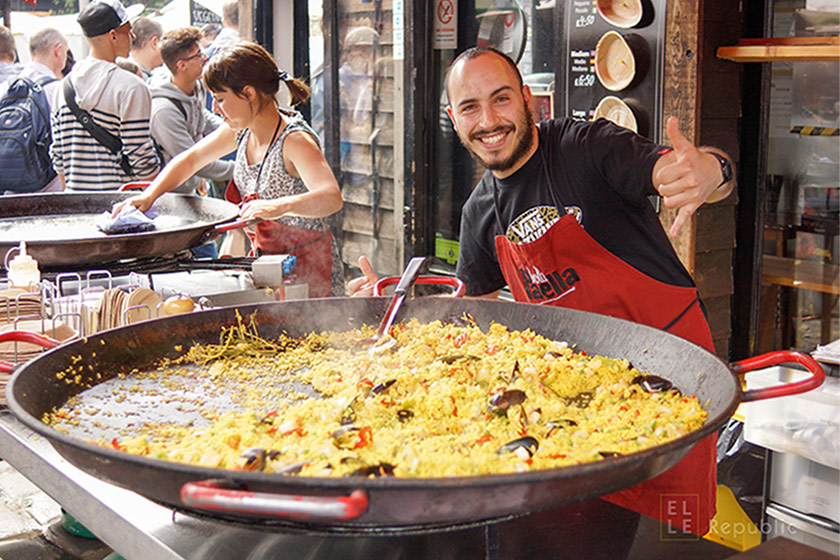 Paella in Camden Market, London