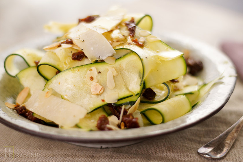 Zucchini Salad with Truffle Oil