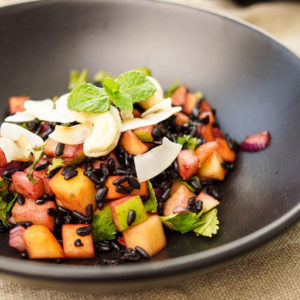 Black Rice Salad with Mango and Apple