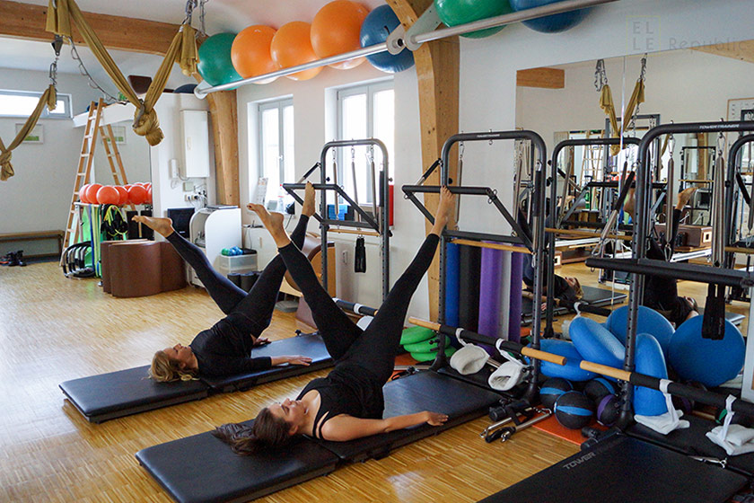 Stott Pilates, Trainieren beim Pilates