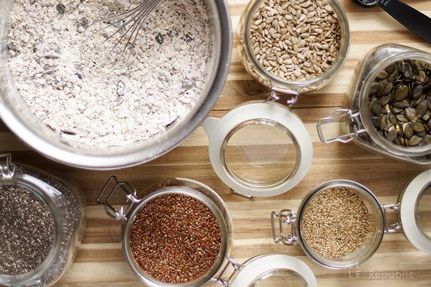 Zutaten Protein Power Brot voller Körner