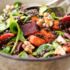 Lentil Salad with Roasted Sweet Potato