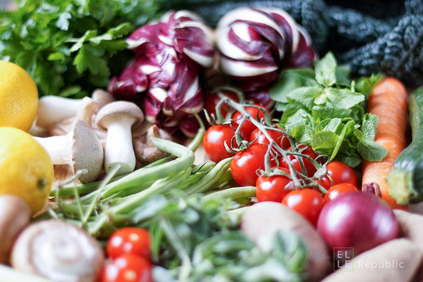 Gemüse frisch vom Markt für selber kochen ist cool