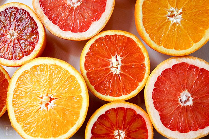 Orangen, Blutorangen, Grapefruit, Zitrusfrüchte