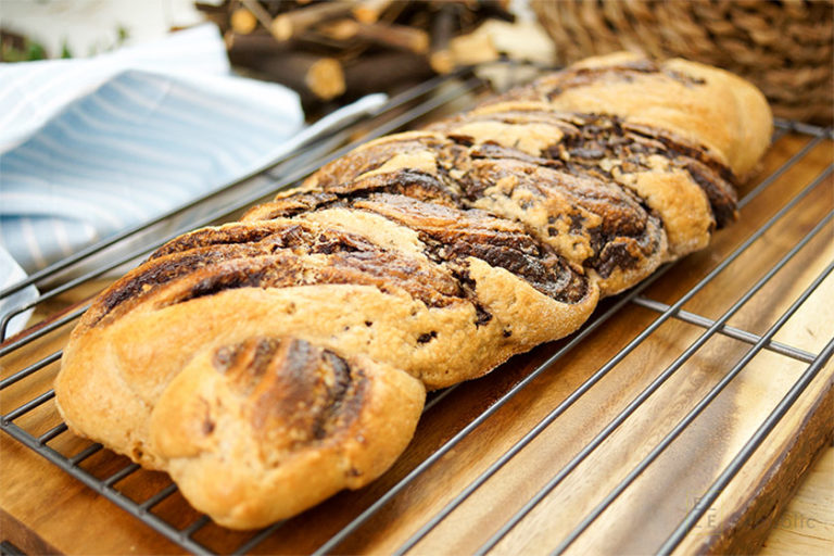 Braided Chocolate Spelt Bread