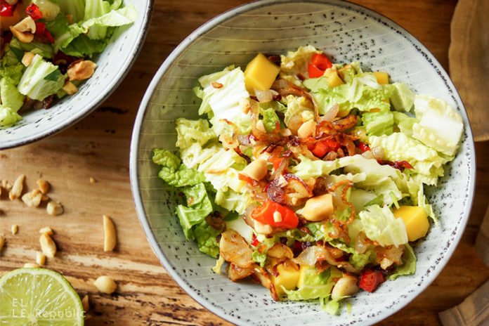 Coconut-Lime Cabbage and Mango Salad