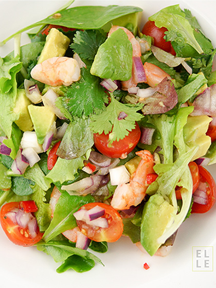 Avocado and Prawn Salad with Cilantro, Chili and Lime
