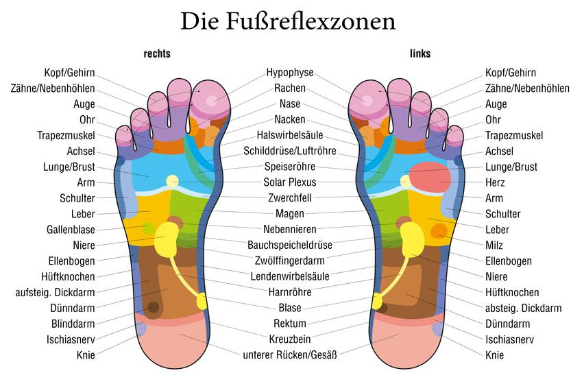 Fussreflexzonen für Detox Fusspflaster