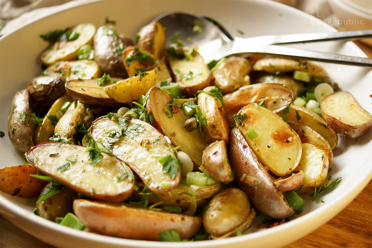 Roasted Potato Salad with Capers & Lemon