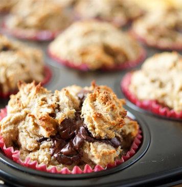 Schoko-Bananen-Muffins (glutenfrei) mit Walnuss und Pekannuss