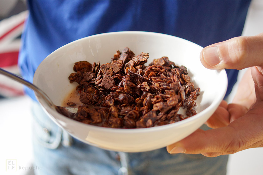 Bowl with Dark Chocolate Granola