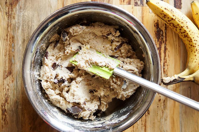 Teig für Schoko-Bananen-Muffins (glutenfrei)