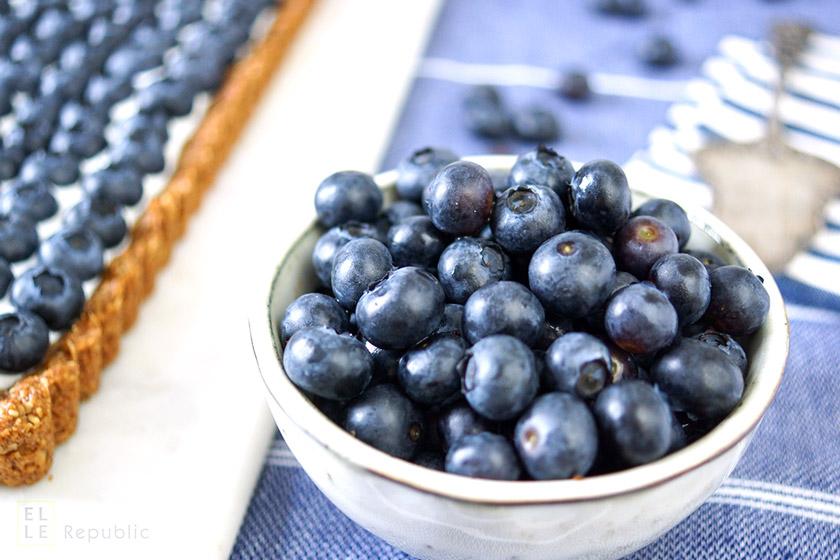 Blaubeeren für Blaubeer Tarte mit Joghurt, Honig, Mandeln, Haferflocken, glutenfrei