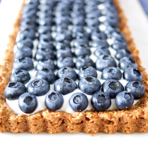 Blueberry Tart with Honeyed Yogurt (Gluten-free)