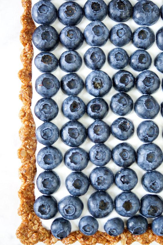 Blueberry Tart with Honeyed Yogurt (Gluten-free)