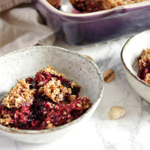 Blackberry Crumble with Figs & Pistachio