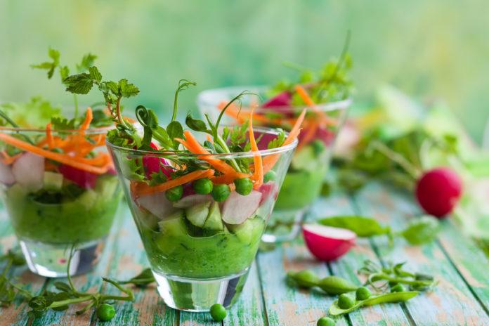 gesunder Salat, vegan, Ernährung, nachhaltig, Nährstoffe, Vitamine