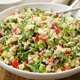 Coconut Edamame Quinoa Salad