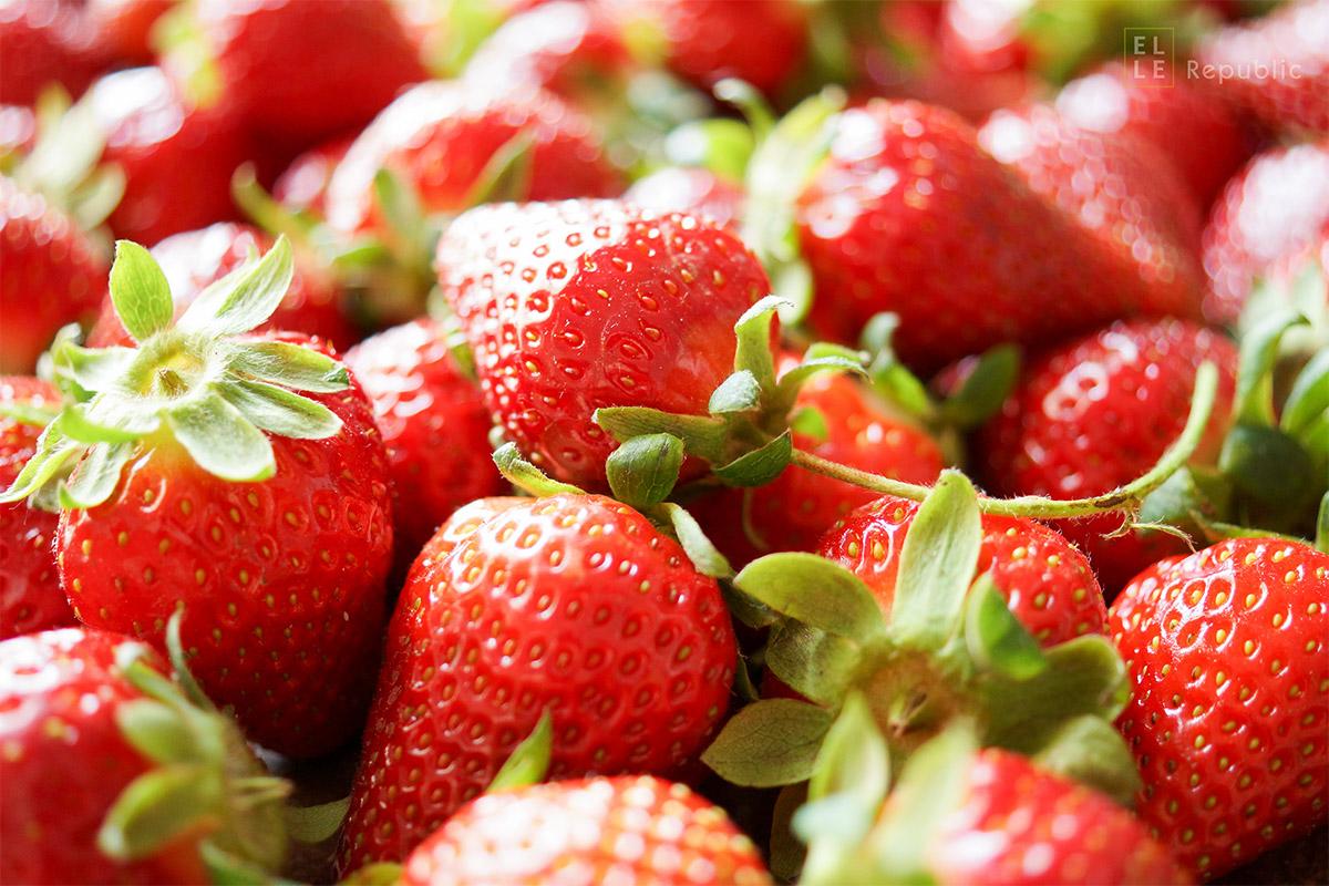 Frische Erdbeeren vom Wochenmarkt, Elle Republic