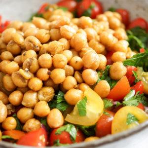 Crispy Chickpea Tomato Salad