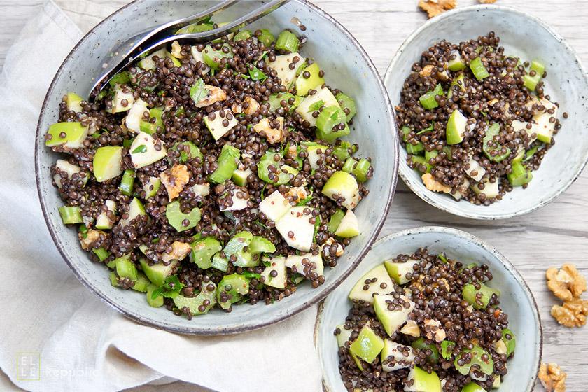 Apfel-Sellerie-Linsen-Salat Recipe mit