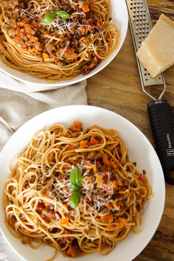 Vegetarian Lentil Bolognese