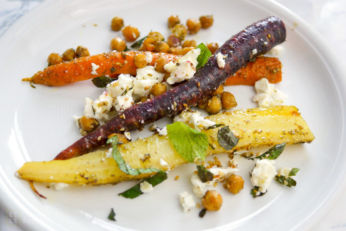 Za'atar Roasted Carrots and Chickpeas