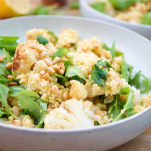 Roasted Cauliflower and Millet Salad