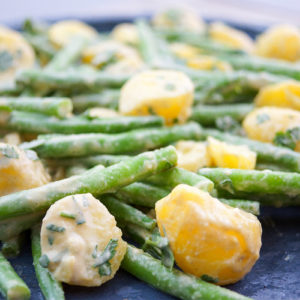 Tahini Green Beans and Potatoes