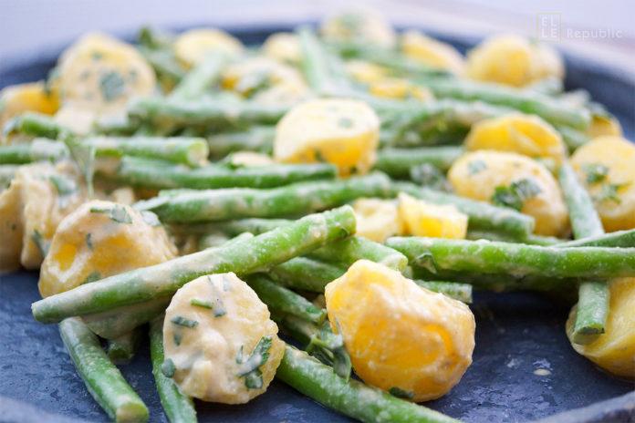 Grüne Bohnen und Kartoffeln mit Tahin-Dressing Rezept