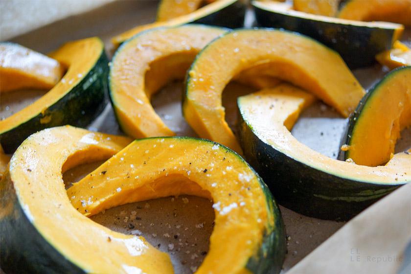 Hokkaido Pumpkin Sliced