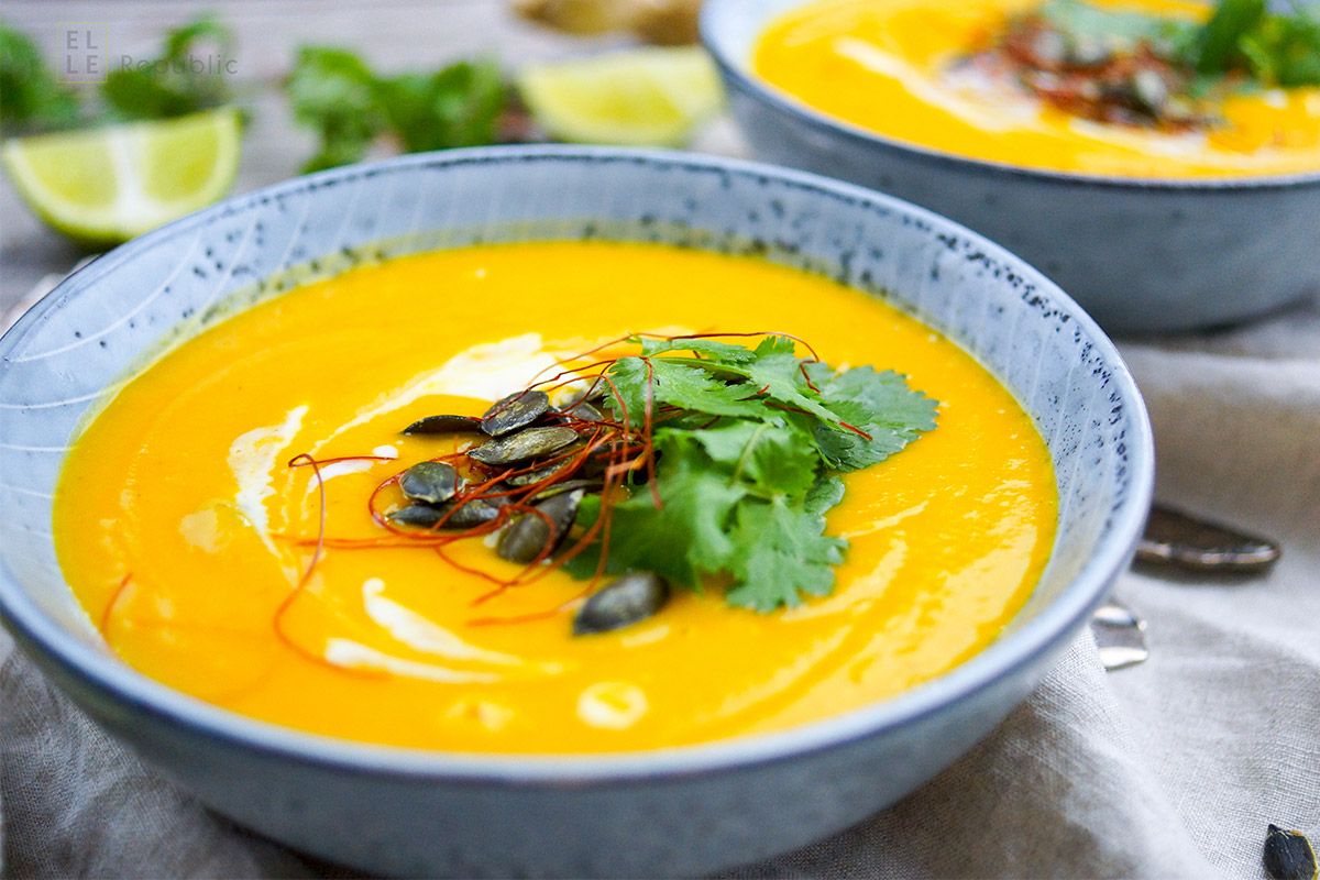 Roasted Thai Butternut Squash Carrot Soup