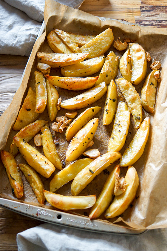 knusprige Salbei Kartoffelecken