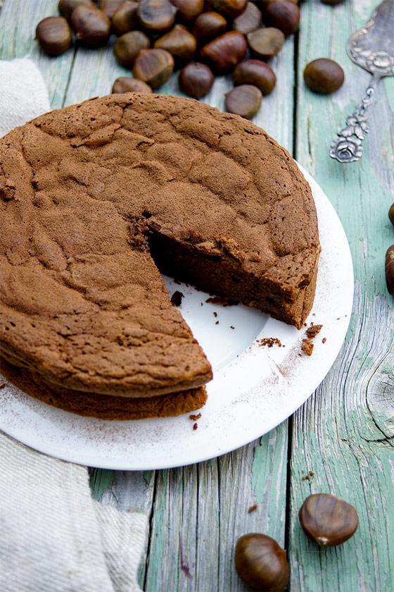 Maronen-Schokoladen-Kuchen, Kastanien-Schokokuchen, glutenfrei, rezept