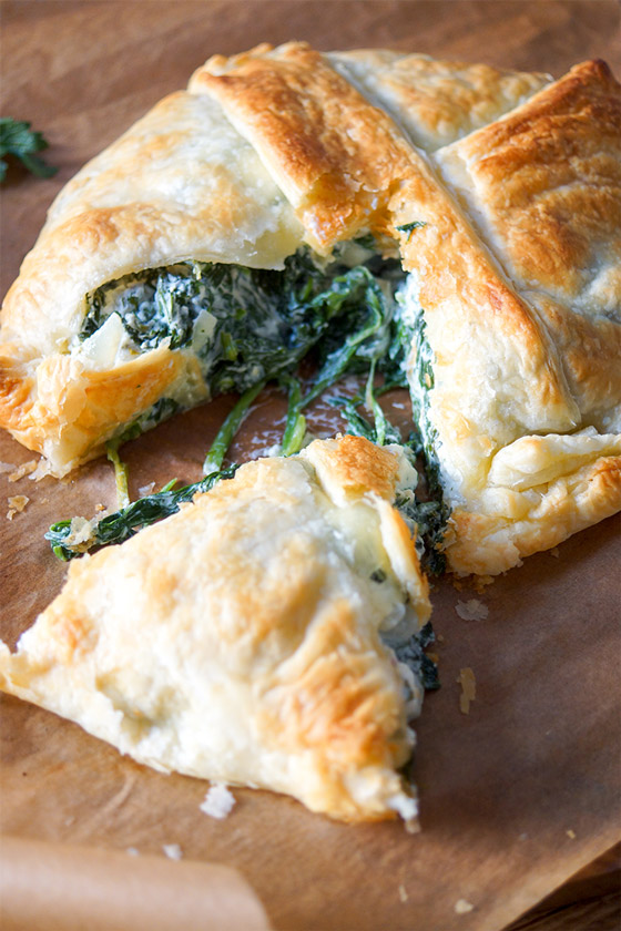 Free-Form Spinach Pie