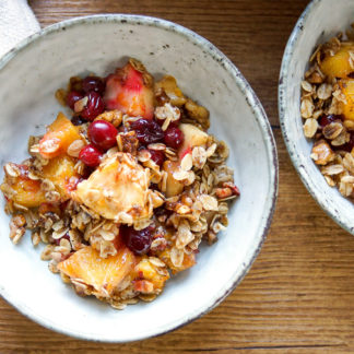 Cranberry Orange Apple Crisp (Vegan + GF)