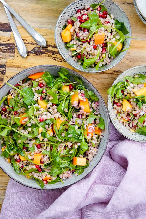 Vegetarier salat runter