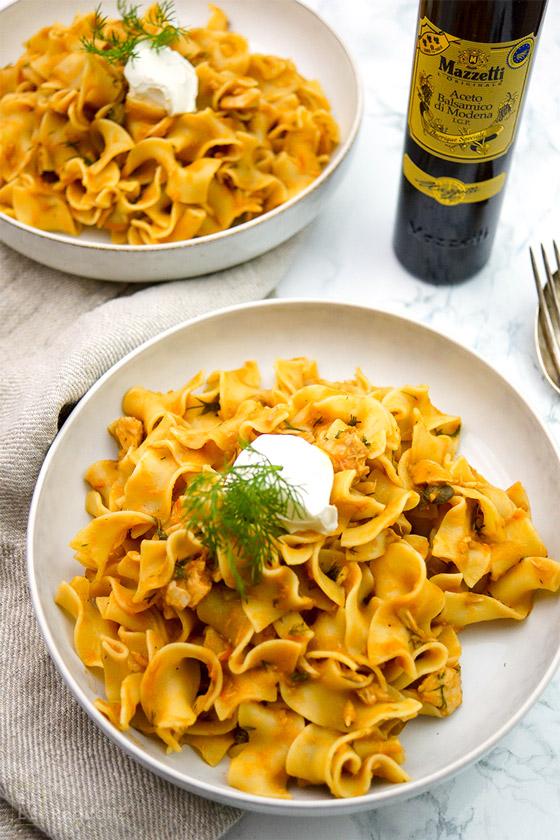 Mazzetti Balsamico-Sugo mit Thunfisch, Kapern, Tomaten Rezept