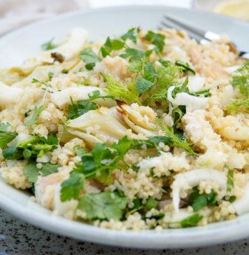 Fenchelsalat mit Forelle und Quinoa Rezept, Glutenfrei