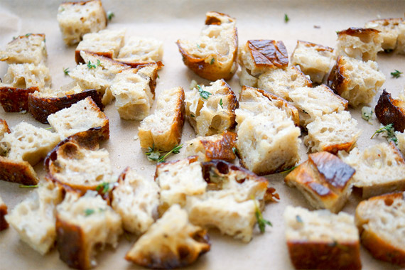 Ciabbata für Homemade Croutons