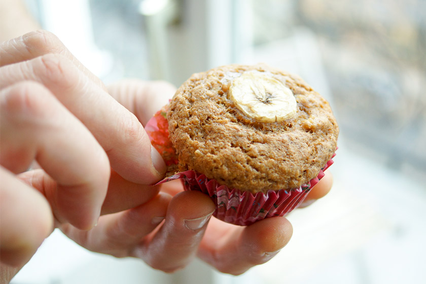 Low Fat Banana Bread Muffins 3