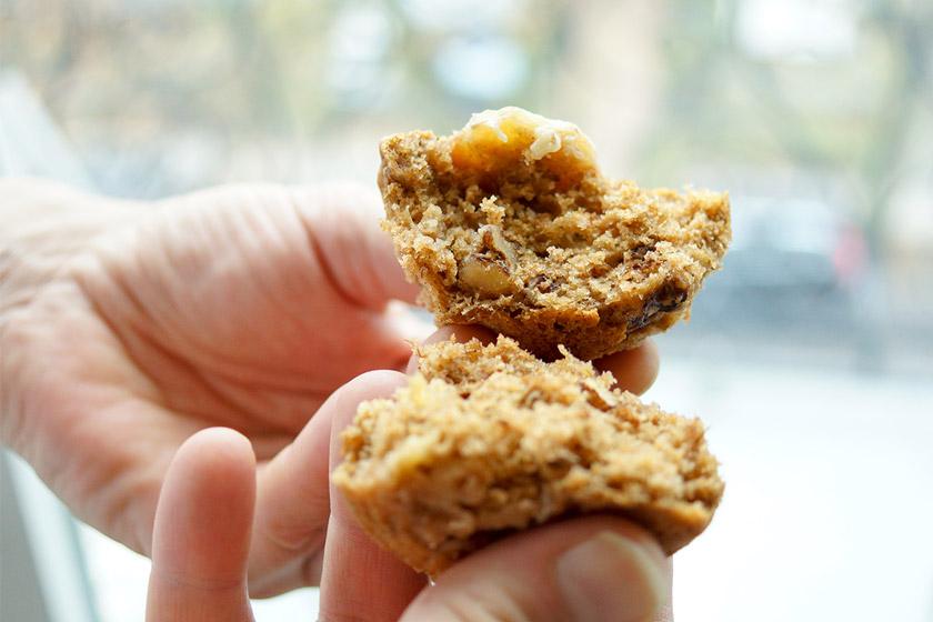 Banana Bread Muffins Rezept, vegan, low-fat, healthy, refined sugar-free