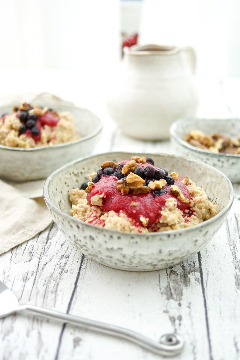 Porridge mit Orangen und Rote Bete Rezept (vegan, vegetarisch, gesund, glutenfrei, low-fat, frühstück)