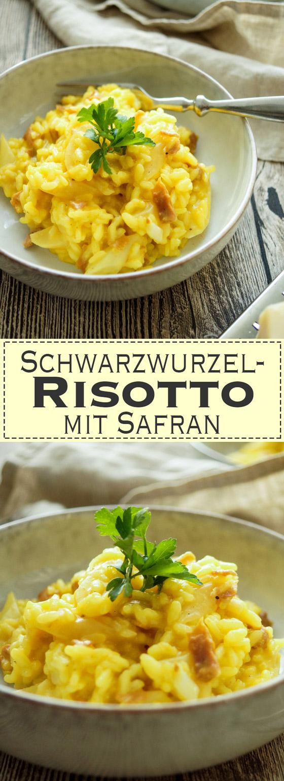 Ein einfaches Schwarzwurzel-Risotto Rezept mit Safran und Parmaschinken. Ein gesundes, leckeres, glutenfreis Gericht. Einfache, Schnelle Rezepte aus frischen Zutaten, Elle Republic