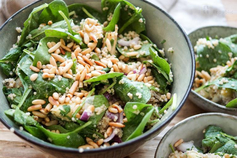 Roasted Asparagus Salad with Lemon Tahini Dressing