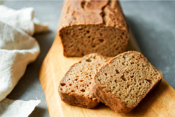 Ein einfaches, schnelles glutenfreies Rezept für ein Apfel Kardamom Brot Rezept, Kaffegebäck, Frühstück, glutenfrei