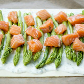 Salmon and Asparagus Tart