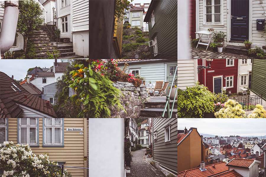 Bergen Norway Collage, Photos Credit and Copyright Tom Tautz